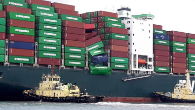 Evergreen Boxship Suffers Container Stack Collapse Off Japan