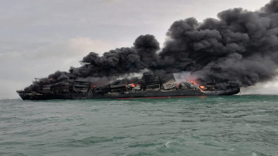 Firefighting continues on ravaged X-Press Pearl