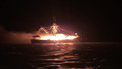 Four Rescued from Burning Fishing Vessel Off Alabama