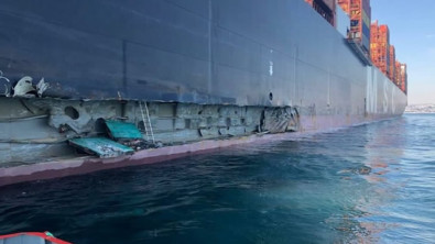 Giant MSC Boxship Badly Damaged in Allision at Port of Istanbul