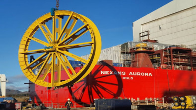 Nexans Aurora getting its cable lay equipment