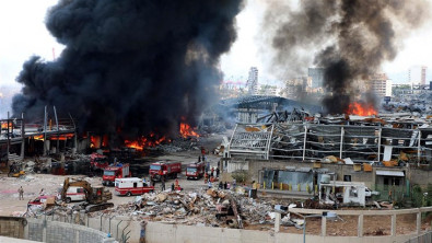 One Month After Massive Explosion, Another Fire at Port of Beirut