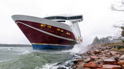 Passenger Ferry Viking Grace 'Firmly' Aground in Aland Islands