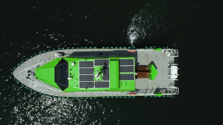 Penguin has delivered Singapore's first hybrid-powered ship