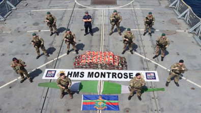 Royal Navy Frigate seizes £18 million in drugs in Persian Gulf