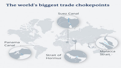 Suez Canal blockage: 4 of the biggest trade chokepoints