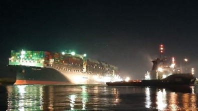 The Suez Canal traffic will resume later today