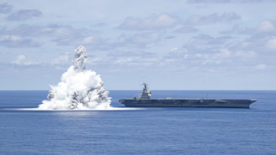 USS Gerald R. Ford Completes Latest Round of Explosive Shock Trials